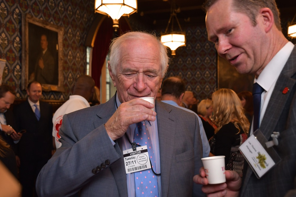 Johnny Ball (President of Lancastrians in London) and Lee Thorne (Red Bank Cider)