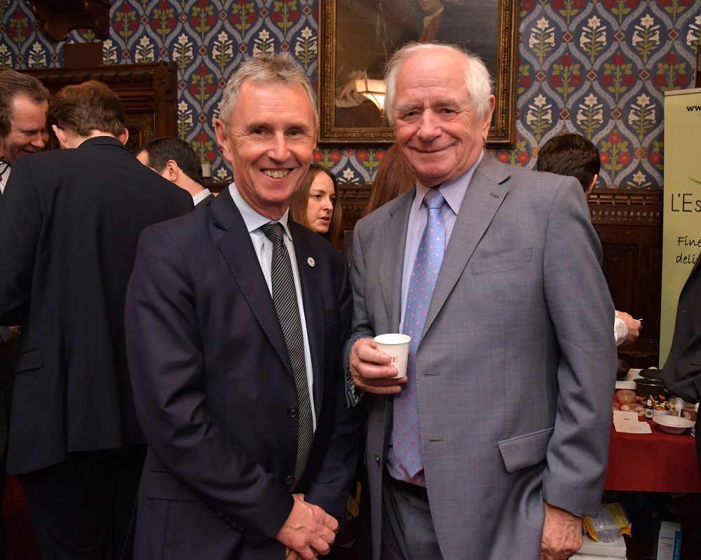 Nigel Evans MP and Johnny Ball (President of Lancastrians in London)