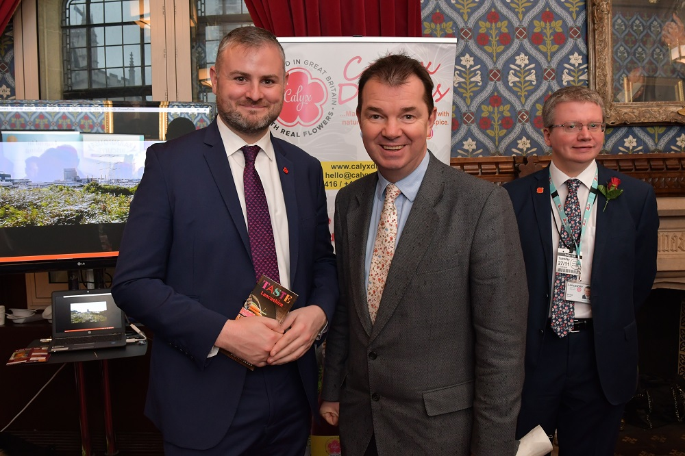Andrew Stephenson MP, Guy Opperman MP and Pensions Minister, Lancashire County Councillor Michael Green