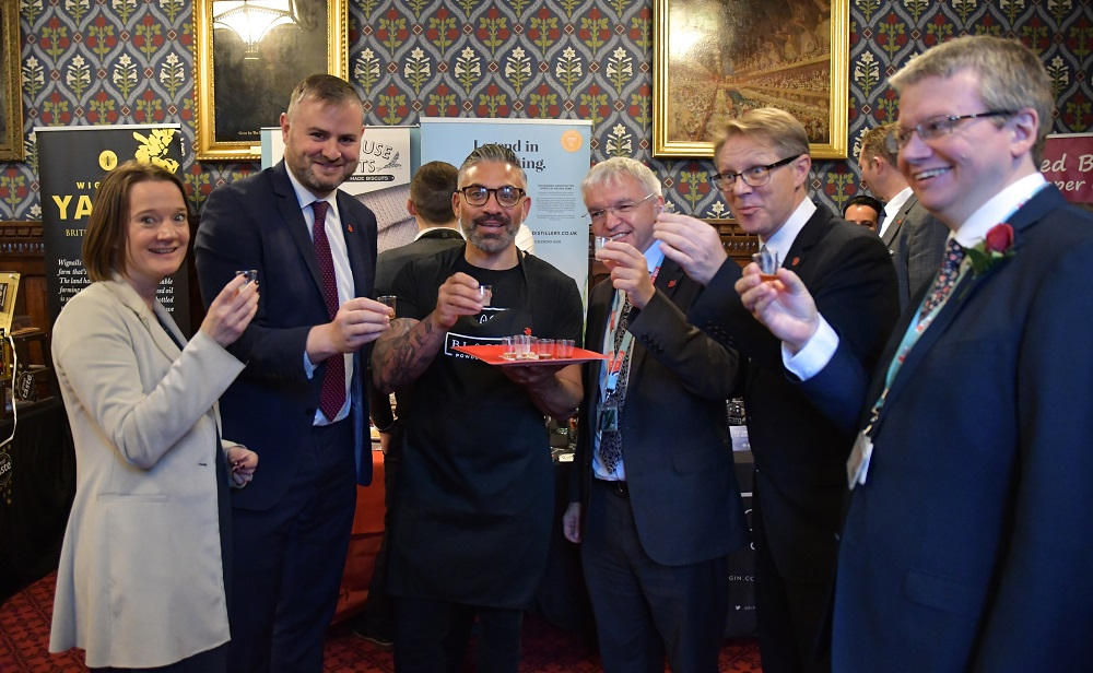 Rachel McQueen (Chief Executive of Marketing Lancashire), Andrew Stephenson MP, Harry Camillari (Black Powder Gin), Mark Menzies MP, David Morris MP and Lancashire County Councillor Michael Green