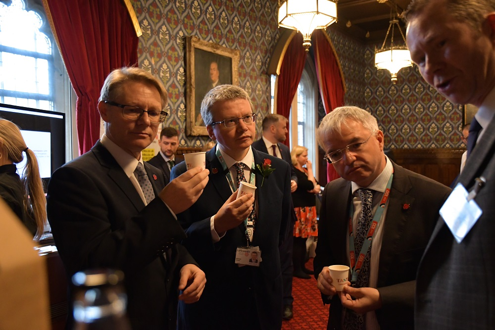 David Morris MP, Lancashire County Councillor Michael Green and Mark Menzies MP